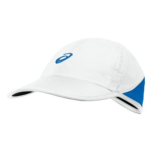 Womens ASICS Mad Dash Cap Headwear - White/Blue Jean