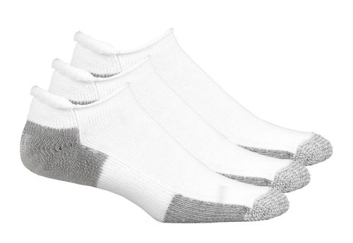Thorlos Running No Show Roll Top 3 pack Socks - White M