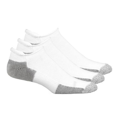 Thorlo Running No Show Roll Top 3 pack Socks - White M