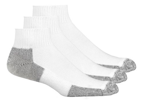 Thorlos Running Mini-Crew 3 pack Socks - White M