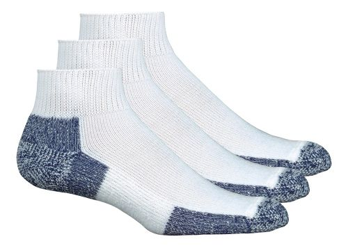 Thorlo Running Mini-Crew 3 pack Socks - White/Navy L