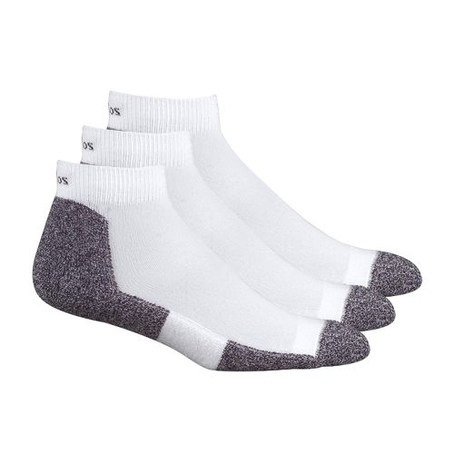 Mens Thorlo Lite Coolmax Mini Crew 3 pack Socks - White S