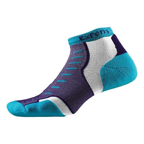 Thorlo Experia Micro Mini-Crew Socks - Turquoise Vibe M