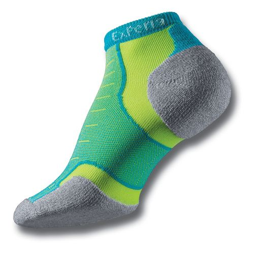 Thorlo Experia Micro Mini-Crew Socks - Turquellow M