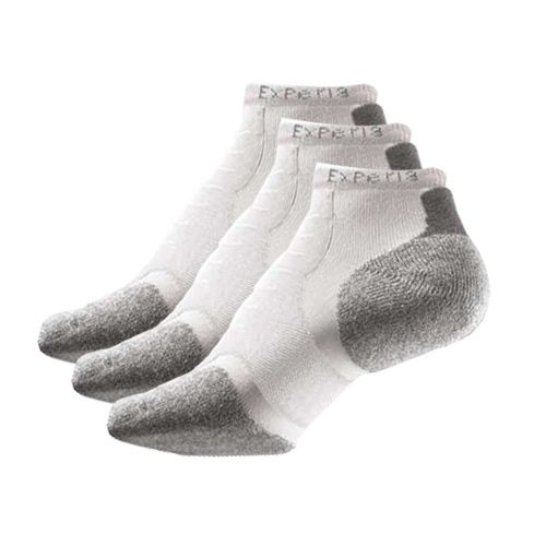 Thorlo Experia Micro Mini-Crew 3 pack Socks - White M
