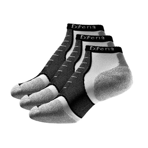 Thorlo Experia Micro Mini-Crew 3 pack Socks - White/Black S