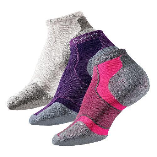 Thorlo Experia Micro Mini-Crew 3 pack Socks - Pink/Yellow/White M