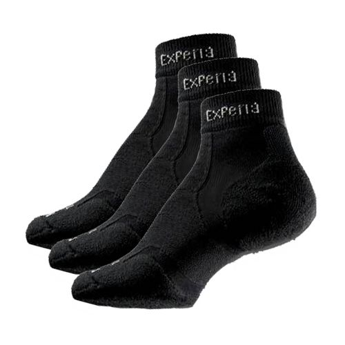 Thorlo Experia Mini Ankle 3 pack Socks - Black/Black L