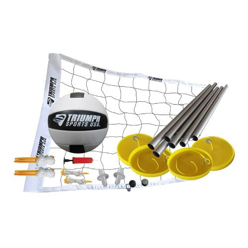 Triumph Sports Beach Volleyball Set Fitness Equipment - Yellow/White