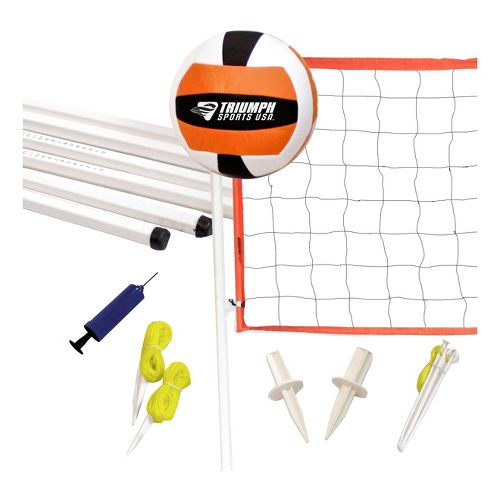 Triumph Sports Volleyball set Fitness Equipment - White/Orange