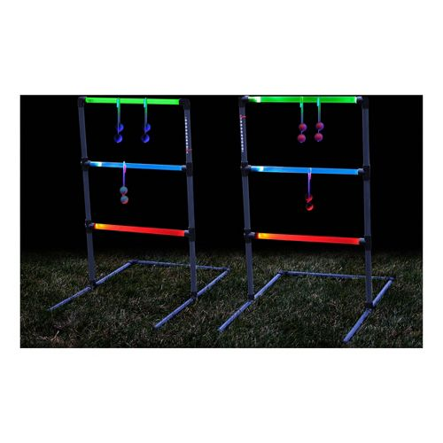 Triumph Sports LED Lighted Ladder Toss Fitness Equipment - Green/Blue