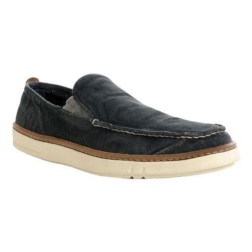 Mens Timberland EK Hookset Handcrafted slip on Casual Shoe - Washed Black Canvas 7