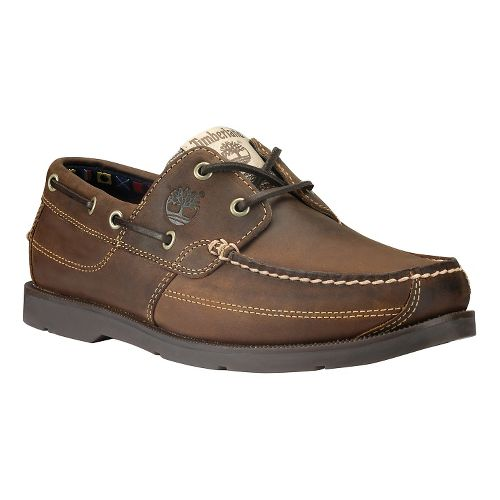 Mens Timberland Kia Wah Bay Handsewn Boat Casual Shoe - Medium Brown 11.5