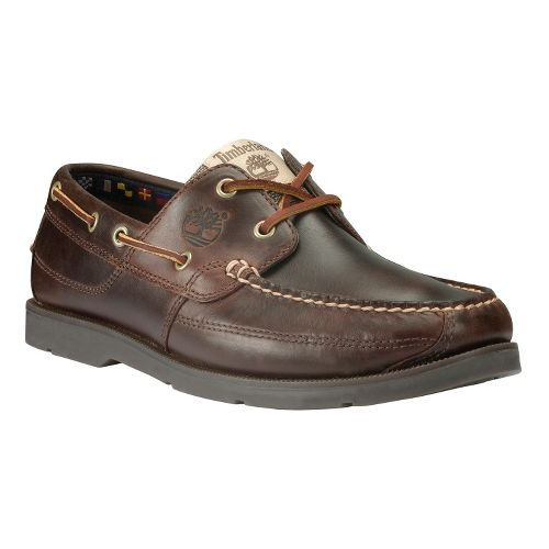 Mens Timberland EK Heritage Kia Wah Bay Handsewn Casual Shoe - Brown Pull-Up 7