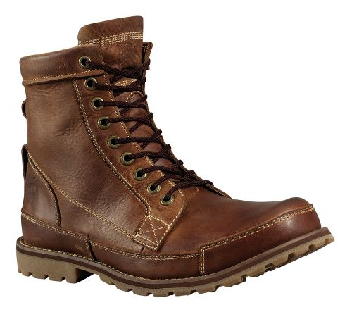 Mens Timberland EK Rugged 6 Boot Casual Shoe - Red Brown Burnished 10