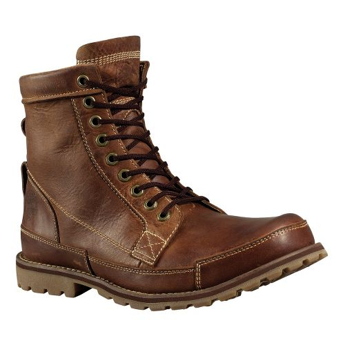 Mens Timberland EK Rugged 6 Boot Casual Shoe - Red Brown Burnished 8