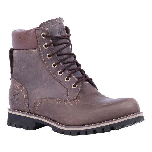 Mens Timberland EK Rugged 6 Plain Toe Boot Casual Shoe - Dark Brown Oiled 15 ...