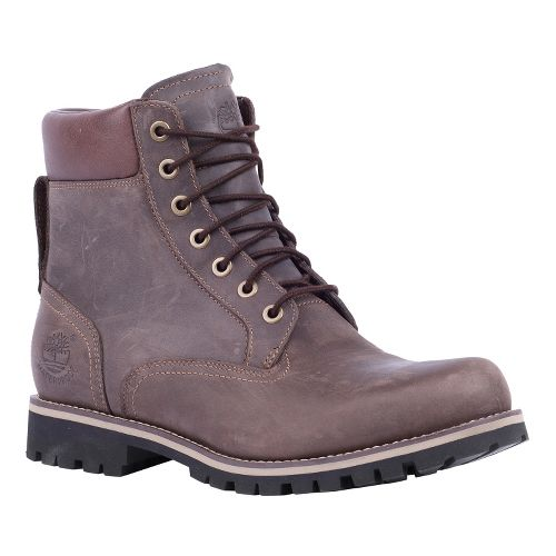 Mens Timberland EK Rugged 6 Plain Toe Boot Casual Shoe - Dark Brown Oiled 7.5 ...