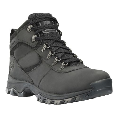 Mens Timberland EK Mount Maddsen Mid Leather Hiking Shoe - Black 12