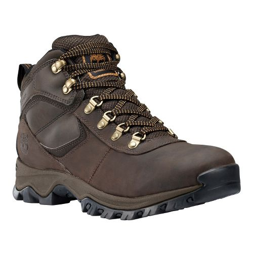 Mens Timberland EK Mount Maddsen Mid Leather Hiking Shoe - Dark Brown 7.5