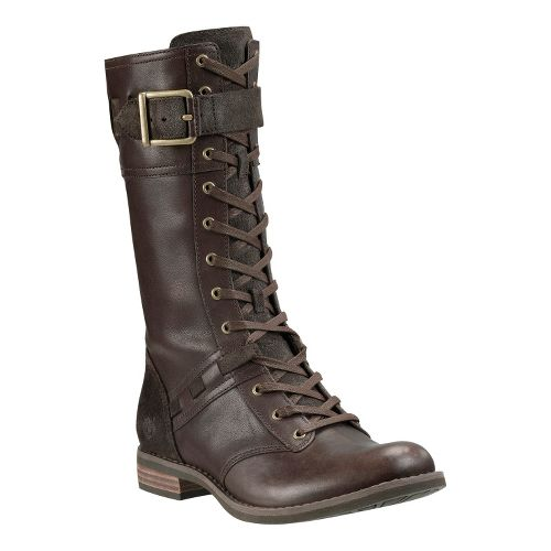 Womens Timberland EK Savin Hill Mid Boot Casual Shoe - Dark Brown Forty Leather 9 ...