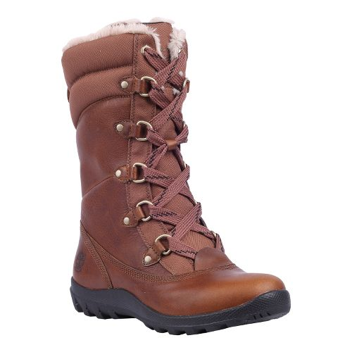 Womens Timberland EK Mount Hope Mid Leather Hiking Shoe - Tobacco Forty Leather 6.5