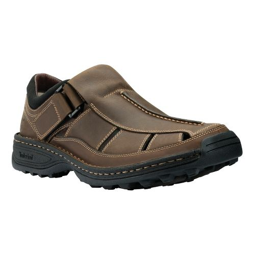 Mens Timberland Altamont Fisherman Sandals Shoe - Brown Smooth 14