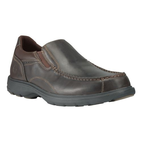 Mens Timberland EK Richmont Slip-On Casual Shoe - Dark Brown Oiled 15