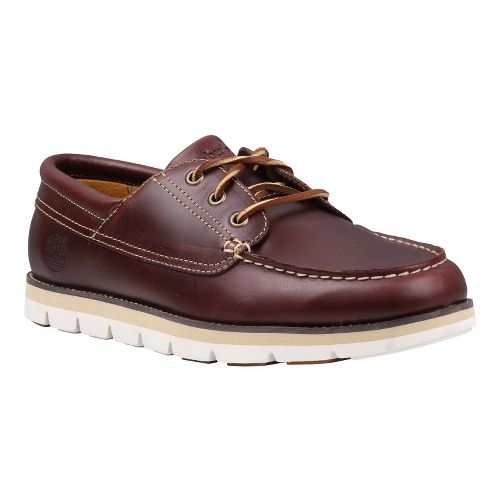 Mens Timberland EK Harborside Oxford Casual Shoe - Burgundy Smooth 15