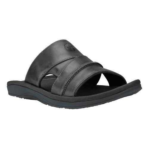 Mens Timberland EK Sandals Slide Sandals Shoe - Black Oiled Leather 8