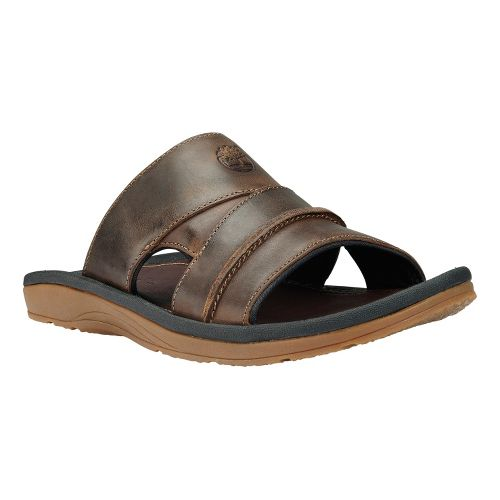 Mens Timberland EK Sandals Slide Sandals Shoe - Brown Oiled 9