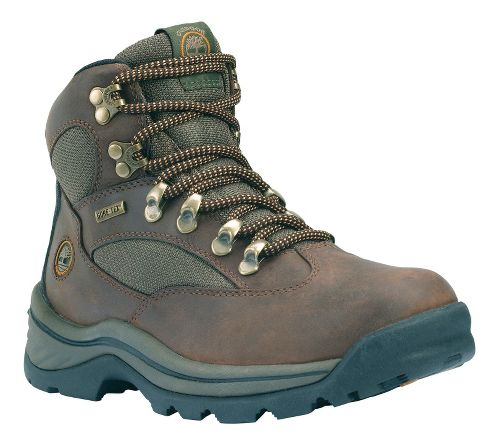 Womens Timberland Chocorua Trail Hiking Shoe - Dark Brown with Green 7