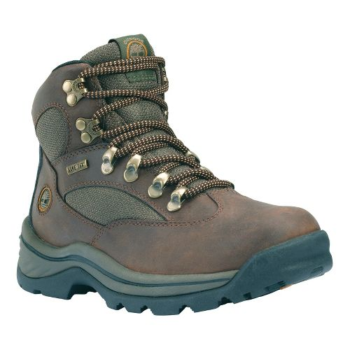 Womens Timberland Chocorua Trail Hiking Shoe - Dark Brown with Green 7.5