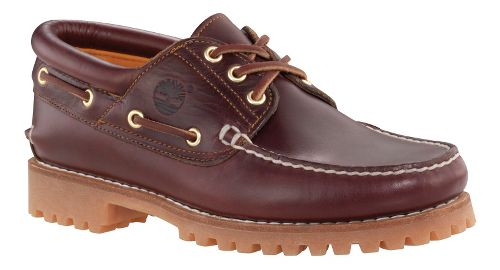 Mens Timberland Icon 3-Eye Classic Lug Casual Shoe - Burgundy Pull-Up 10