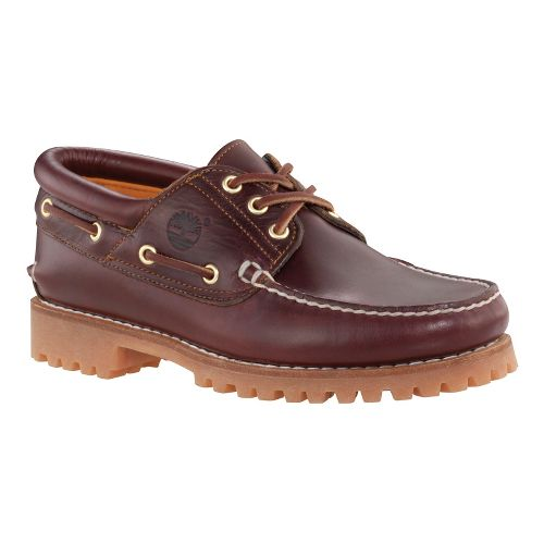 Mens Timberland Icon 3-Eye Classic Lug Casual Shoe - Burgundy Pull-Up 7