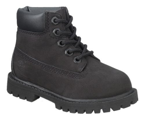 Kids Timberland 6 Premium Waterproof Boot Casual Shoe - Black 4.5C