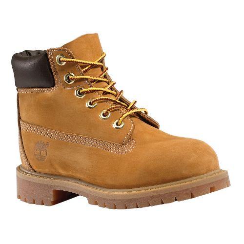 Kids Timberland 6 Premium Waterproof Boot Casual Shoe - Wheat 4.5