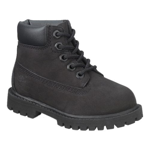 Kids Timberland 6 Premium Waterproof Boot Casual Shoe - Black 3Y