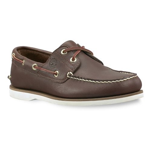 Mens Timberland Classic 2-Eye Icon Boat Casual Shoe - Dark Brown 9.5