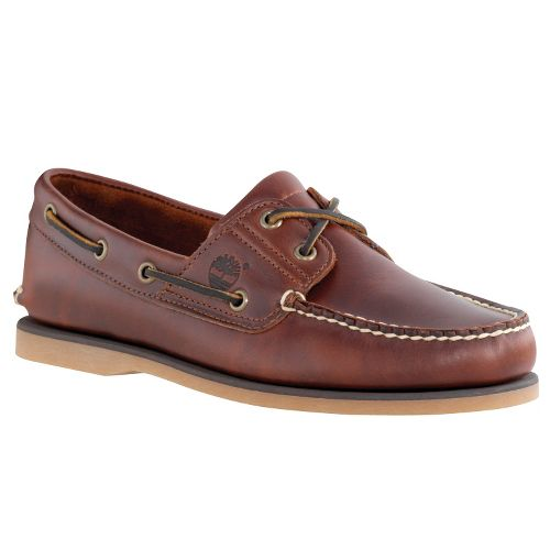 Mens Timberland Classic 2-Eye Icon Boat Casual Shoe - Dark Brown 7.5
