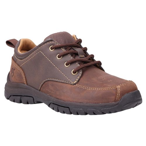 Kids Timberland Discovery Pass Oxford Junior Casual Shoe - Brown 4
