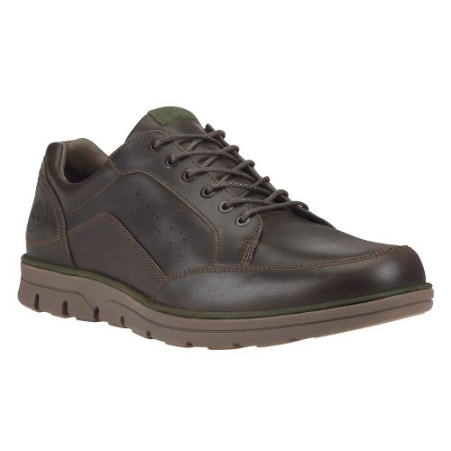 Mens Timberland EK Bradstreet Moc Toe Oxford Casual Shoe - Dark Brown Smooth 15