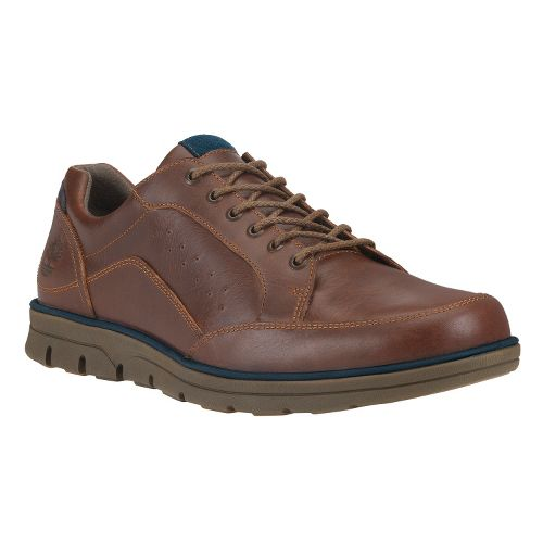 Mens Timberland EK Bradstreet Moc Toe Oxford Casual Shoe - Red Brown Smooth 10