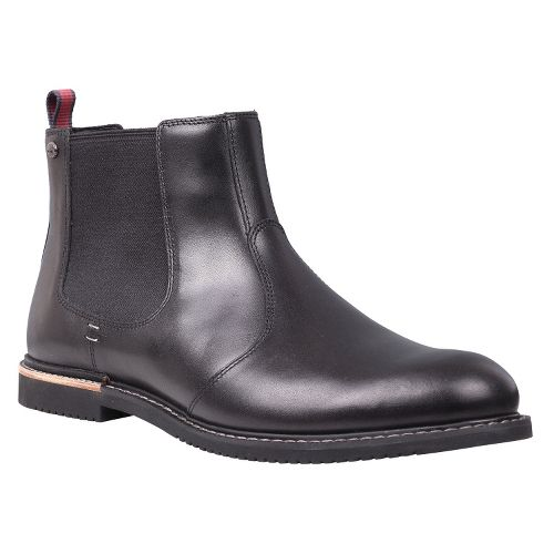 Mens Timberland EK Brook Park Chelsea Casual Shoe - Black Smooth 7