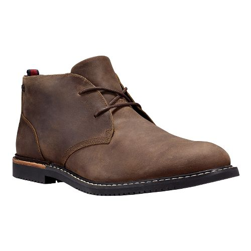 Mens Timberland EK Brook Park Chukka Casual Shoe - Red Brown Smooth 11