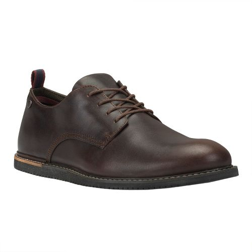 Mens Timberland EK Brook Park Oxford Wedge Casual Shoe - Brown Smooth 14