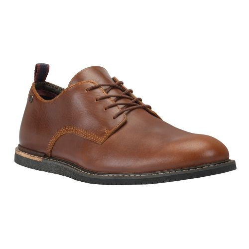 Mens Timberland EK Brook Park Oxford Wedge Casual Shoe - Red Brown Smooth 12