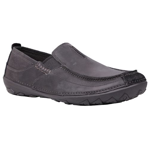 Mens Timberland EK Drumlin Hill Slip-On Casual Shoe - Black Oiled Leather 14