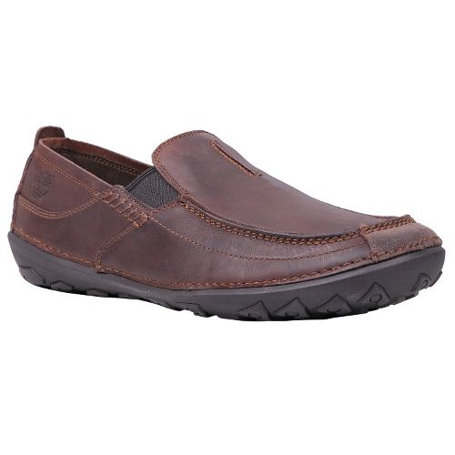 Mens Timberland EK Drumlin Hill Slip-On Casual Shoe - Dark Brown Oiled 10