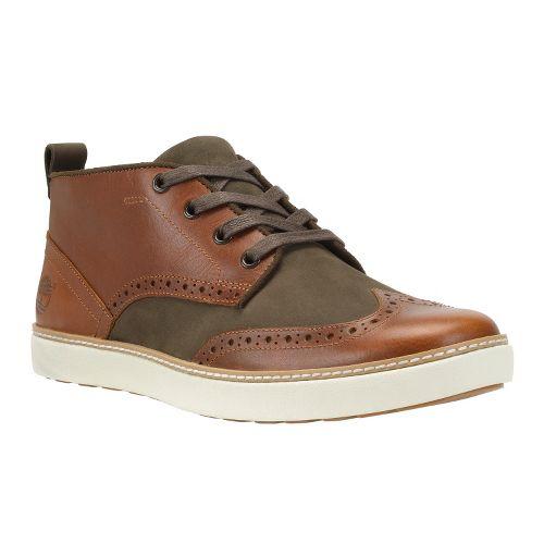 Mens Timberland EK Hudston Brogue Chukka Casual Shoe - Red Brown Distressed 9